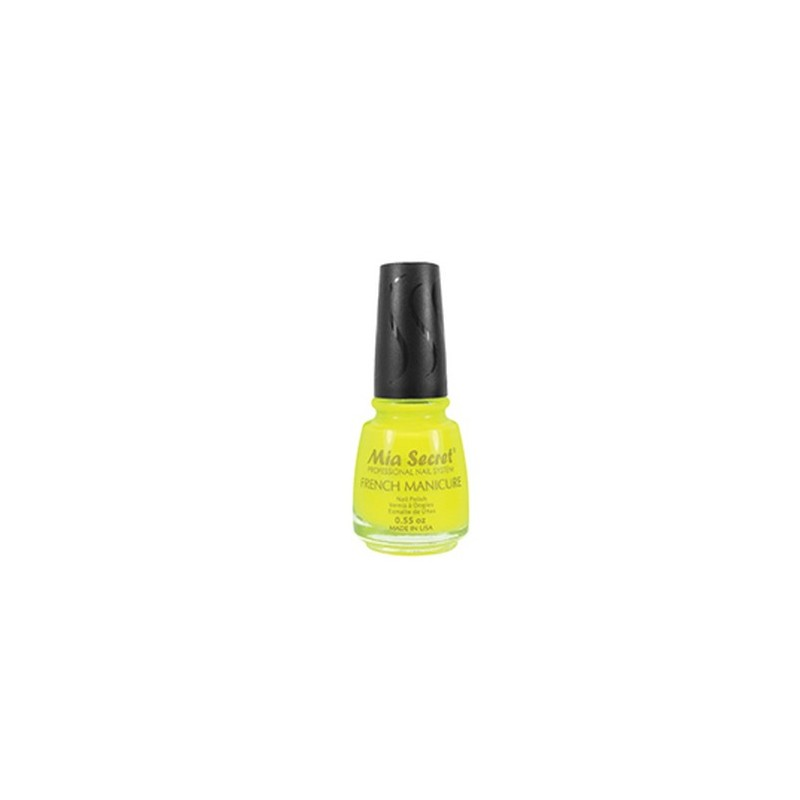 French Manicure Neon Yellow