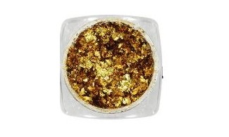 Flakes gold